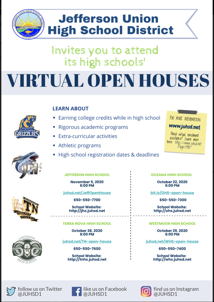 Virtual Open House for High School