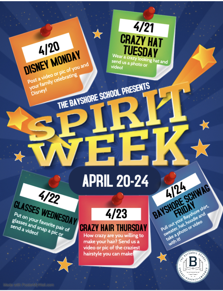 Spirit week! Wear gear to your online meetings too!