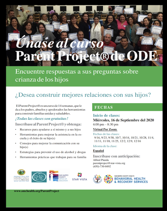 Parent Project for Spanish Speakers Flyer