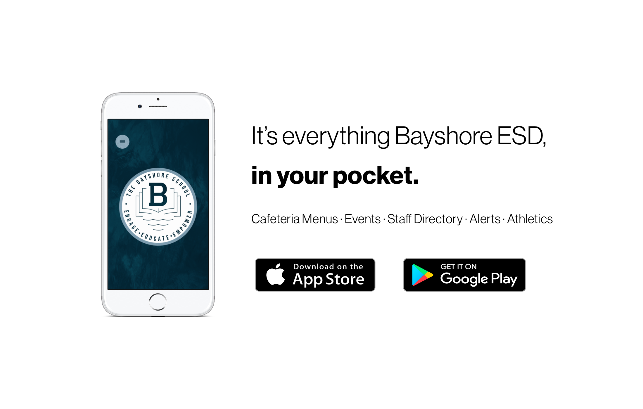 Download our new app! It's everything Bayshore ESD in your pocket.